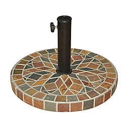 Destination Summer Decorative Stone Umbrella Base in Bronze