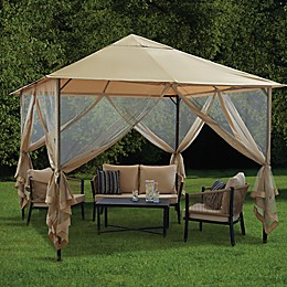 Destination Summer 10-Foot x 10-Foot Steel Double-Tiered Gazebo in Neutral