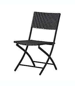Silla plegable Destination Summer Parisian en blanco/negro