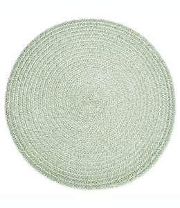 Mantel individual redondo Destination Summer con diseño en espiral en verde laurel