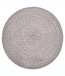 Destination Summer Mantel individual redondo con diseño en espiral en gris aleación