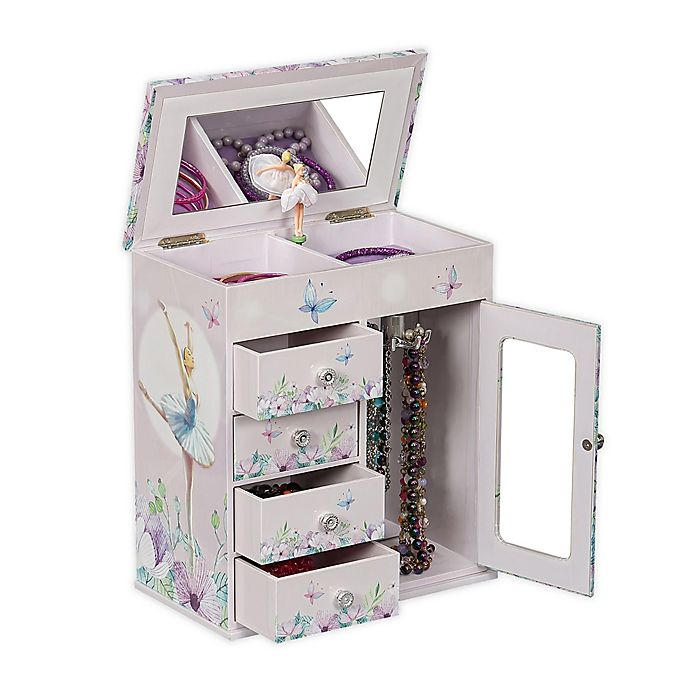 Alternate image 1 for Mele & Co. Liliana Musical Ballerina Jewelry Box in Lilac