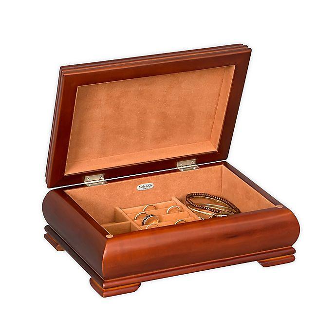 Alternate image 1 for Mele & Co. Carmen Wooden Jewelry Box in Walnut