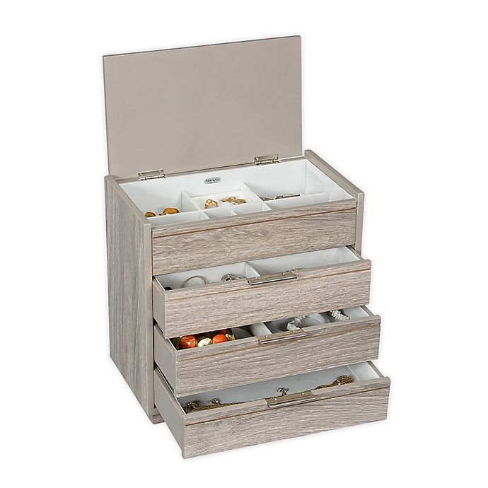Alternate image 1 for Mele & Co. Norah Wooden Jewelry Box in Hazel