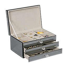 Mele & Co. Maxine Glass Jewelry Box in Metallic