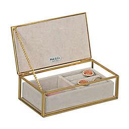 Mele & Co. Jess Glass Jewelry Box in Pink