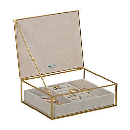Mele & Co. June Glass Jewelry Box in Pink