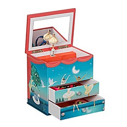 Mele & Co. Malorie Musical Ballerina Jewelry Box in Blue/Coral