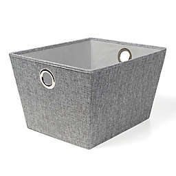 SALT™ Large Tweed Grommet Storage Bin in Grey