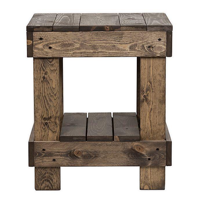 Alternate image 1 for Landmark Pine Wood End Table