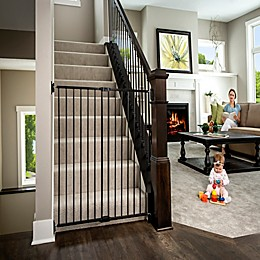 Regalo Extra Tall 2-in-1 Wall Mount Baby Gate in Black