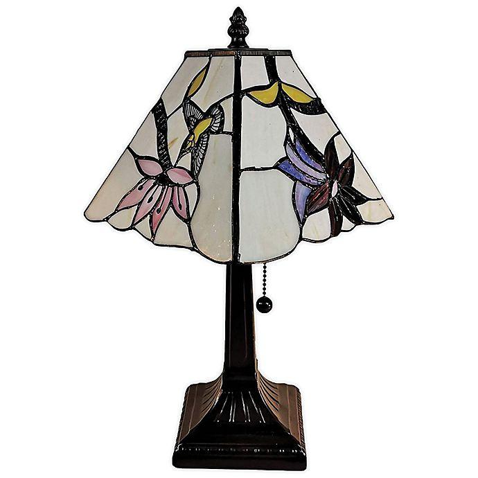 Alternate image 1 for Tiffany Style Hummingbirds Mini Table Lamp