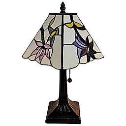Tiffany Style Hummingbirds Mini Table Lamp