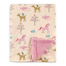Luvable Friends® Forest Mink/Sherpa Receiving Blanket in Cream