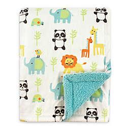 Luvable Friends® Animals Mink/Sherpa Receiving Blanket in Orange