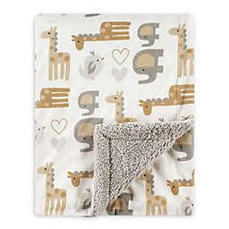 Luvable Friends® Safari Mink/Sherpa Receiving Blanket in Brown