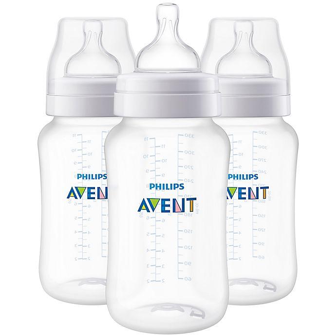 Alternate image 1 for Philips Avent 3-Pack 11 fl. oz. Anti-Colic Wide-Neck Bottles