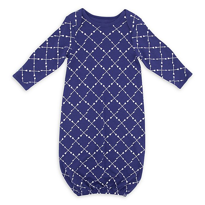 Alternate image 1 for Sterling Baby Arrow Gown in Navy