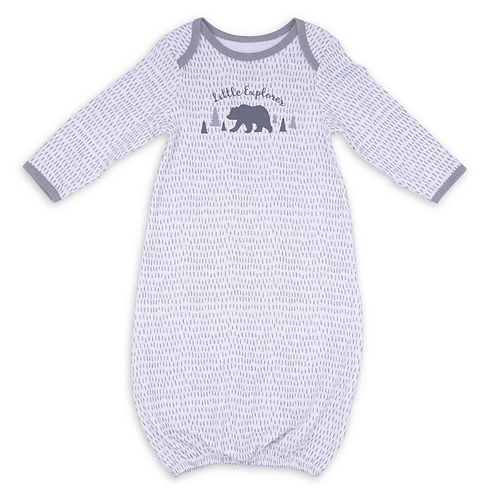 Alternate image 1 for Sterling Baby Speckled Bear Gown in Grey
