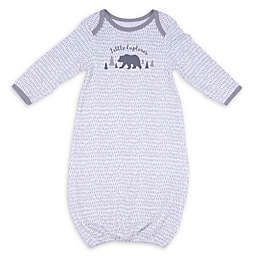 Sterling Baby Speckled Bear Gown in Grey