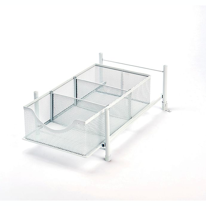 Alternate image 1 for ORG Medium Metal Mesh Cabinet Drawer in White
