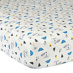 Gerber® Fox Cotton Fitted Crib Sheet in Blue