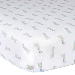 Gerber® Giraffe Cotton Fitted Crib Sheet in Grey/White
