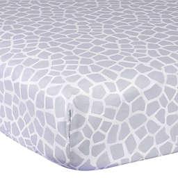 Gerber® Giraffe Cotton Fitted Crib Sheet in Grey