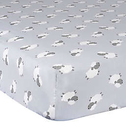 Gerber® Lamb Fitted Crib Sheet in Grey/White