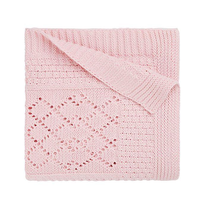 Alternate image 1 for Elegant Baby Textured Knit Blanket in Pink