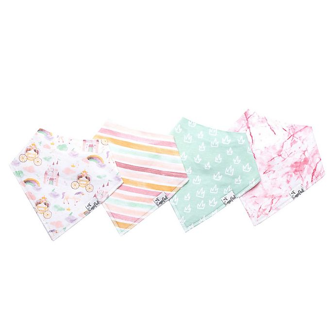 Alternate image 1 for Copper Pearl™ 4-Pack Enchanted Bandana Bibs