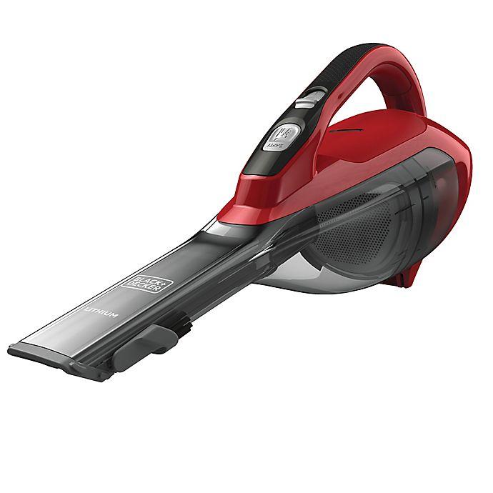 Alternate image 1 for Black & Decker™ Cordless Lithium Hand Vacuum  in Chili Red