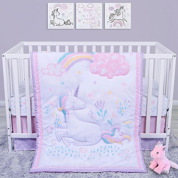 Alternate image 1 for Sammy & Lou 4-Piece Unicorn Crib Bedding Set in Pink