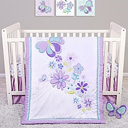 Sammy & Lou Butterfly Meadow 4-Piece Crib Bedding Set