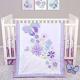 Sammy & Lou Butterfly Meadow 4-Piece Crib Bedding Set
