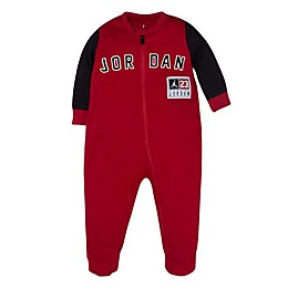 Jordan Diamond Footed Coverall in Red