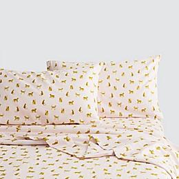 Marmalade™ Leopard Flannel Sheet Set in Pink Multi