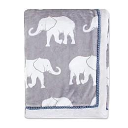 OiOi Safari Toddler Plush Blanket in Grey