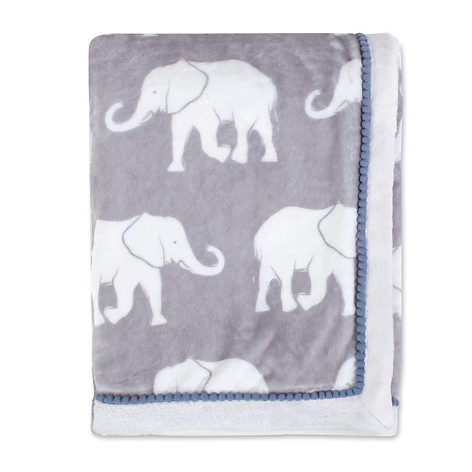 Alternate image 1 for OiOi Safari Toddler Plush Blanket in Grey