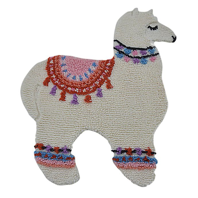Alternate image 1 for Marmalade™ Lovely Llama 3' x 3.5' Hand Tufted Accent Rug in Ivory/Multicolor