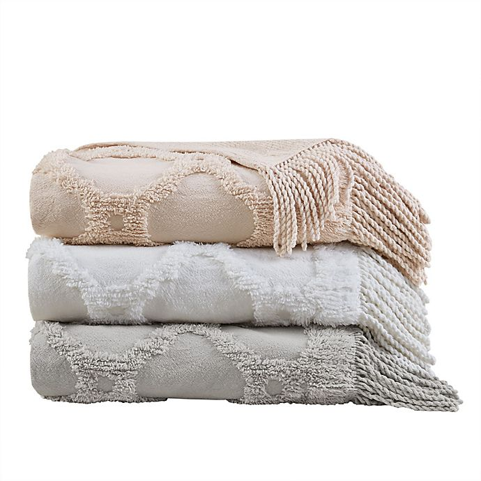 Alternate image 1 for Madison Park Brianne Tufted Throw Blanket