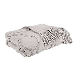 Madison Park Brianne Tufted Throw Blanket in Grey