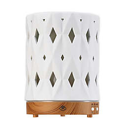 Serene House® Zenith Ceramic Ultrasonic Aromatherapy Diffuser in White