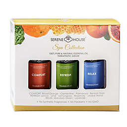 Serene House® Spa Collection 3-Pack Comfort, Refresh and Relax Essential Oil Gift Set