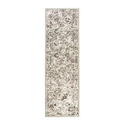 W Home 2-Foot 2-Inch x 6-Foot 11-Inch Runner in Grey/Ivory