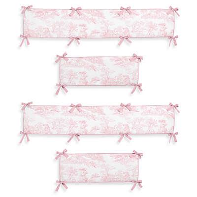 Sweet Jojo Designs Pink French Toile Crib Bumper