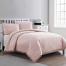 VCNY Home Giselle Velvet Tassel Duvet Cover Set