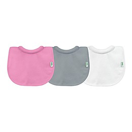 green sprouts® 3-Pack Milk Catcher Stay-Dry Bibs in Pink and Grey
