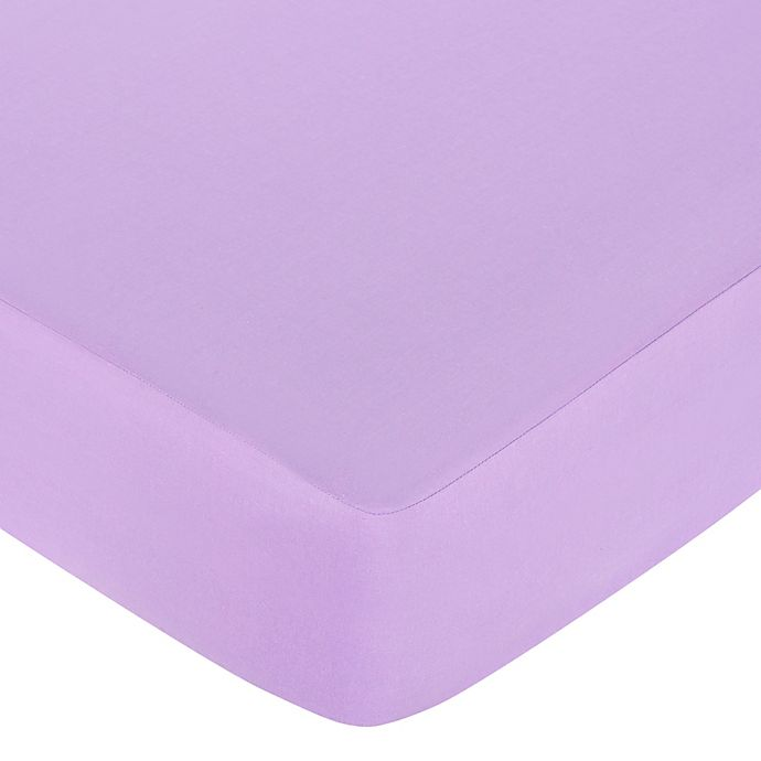 Alternate image 1 for Sweet Jojo Designs Danielle's Daisies Collection Fitted Crib Sheet in Light Purple