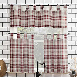 No.918® Blair 36-Inch Tab Top 3-Piece Curtain Set in Red